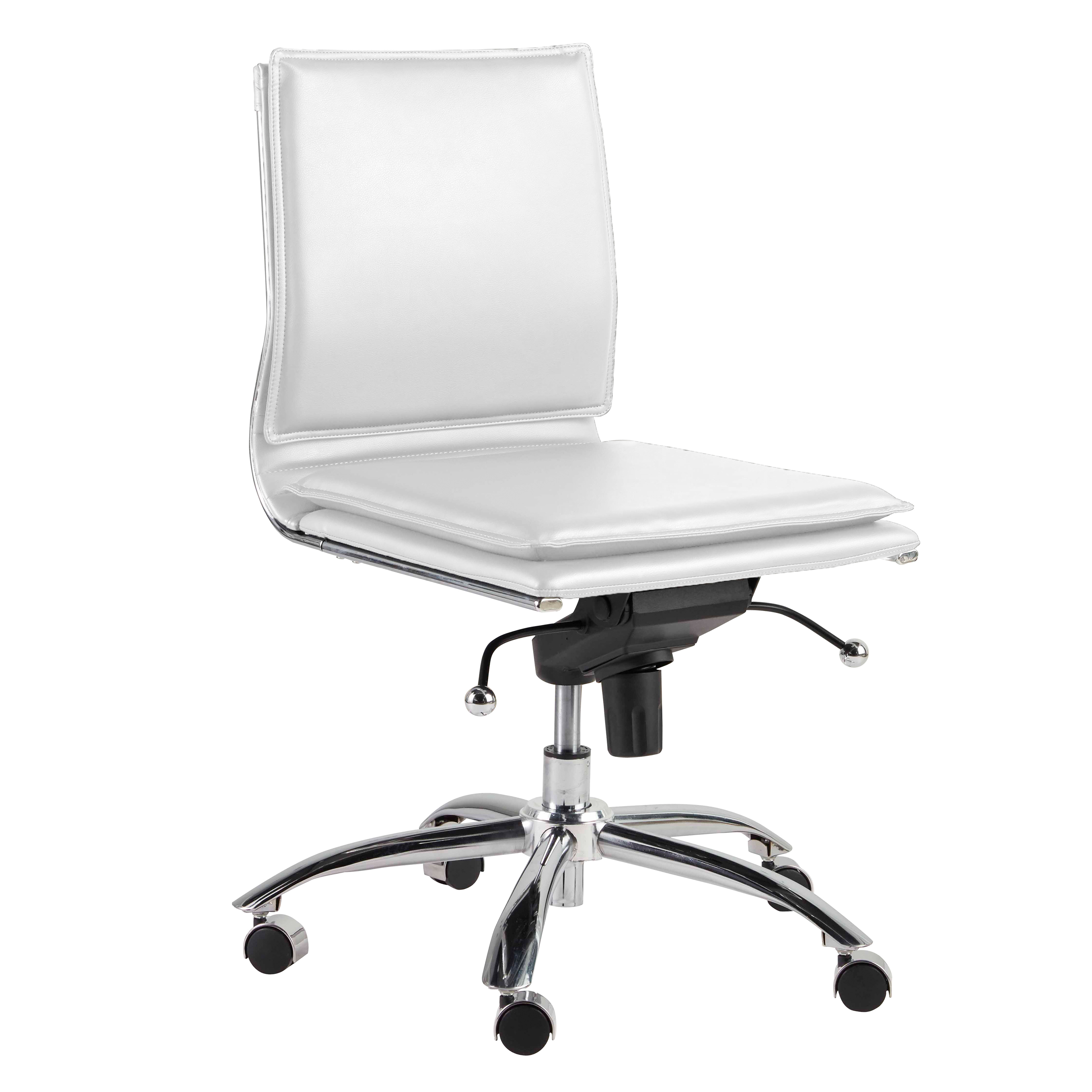 Gunar Pro Low Back Armless Office Chair 01273wht Furniture